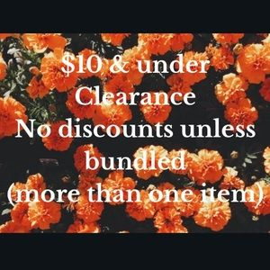 Clearance $10 & Under